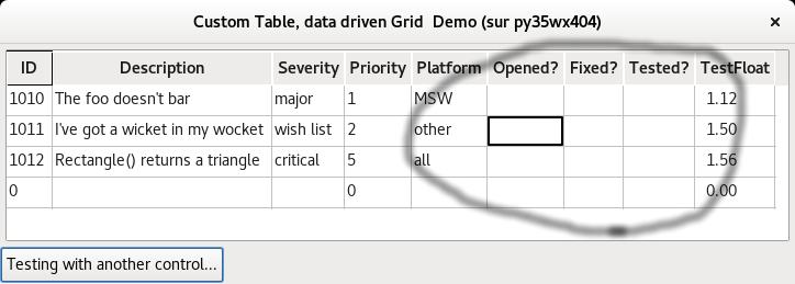 CheckBox in grid - wxPython Users - Discuss wxPython